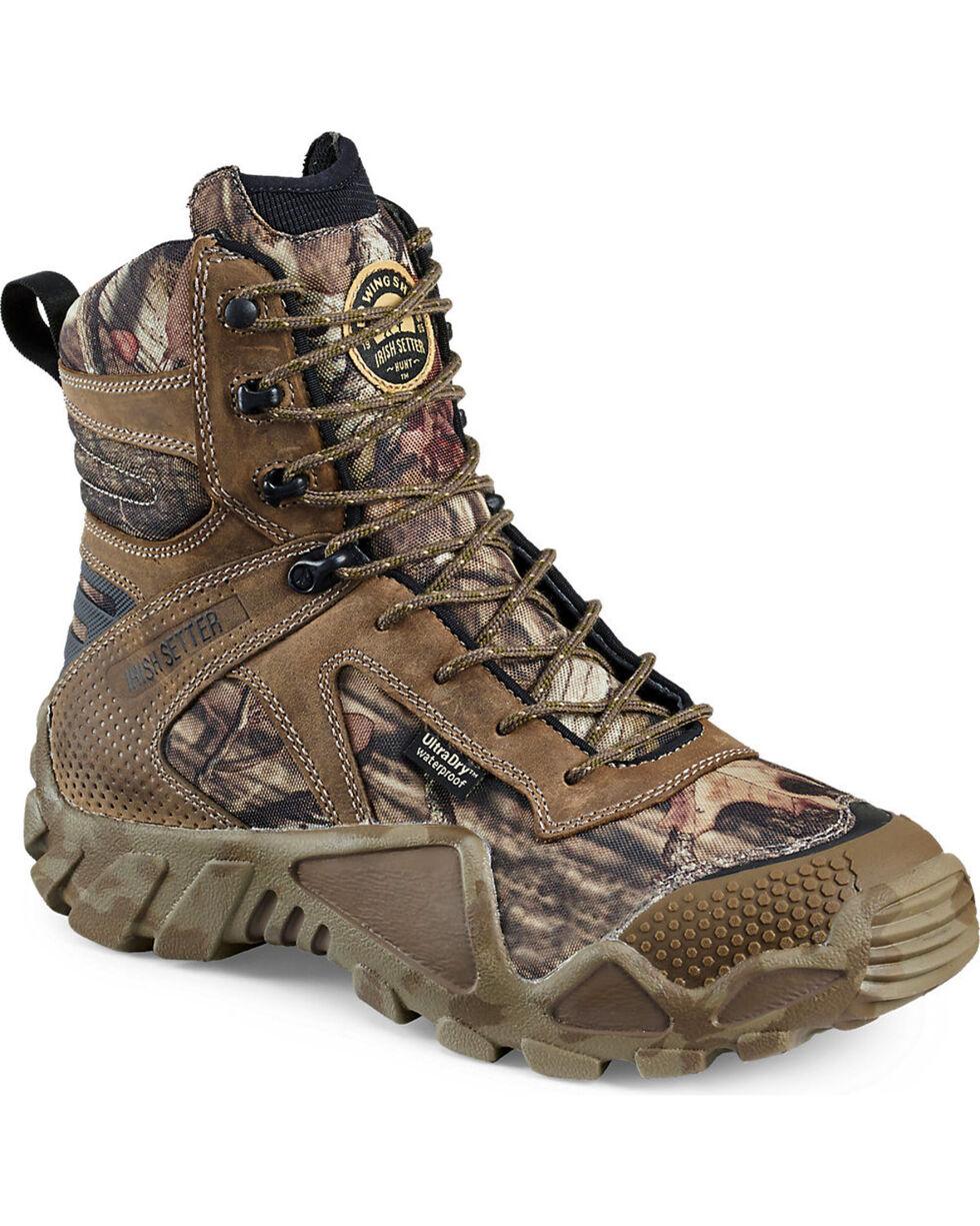 "Irish Setter by Red Wing Shoes Men's Mossy Oak Vaprtrek Waterproof 8"" Boots , Camouflage, hi-res"