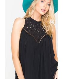 Blush Noir Women's Black Rain Drop Lace Dress , , hi-res