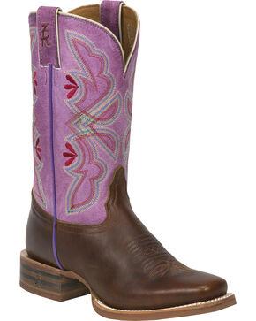 Tony Lama Women's 3R Stockman Western Boots, Cognac, hi-res