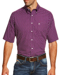 Ariat Men's Dot Printed Short Sleeve Shirt, , hi-res