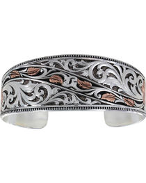 Montana Silversmiths Winding Leaves in Fall Bracelet, , hi-res