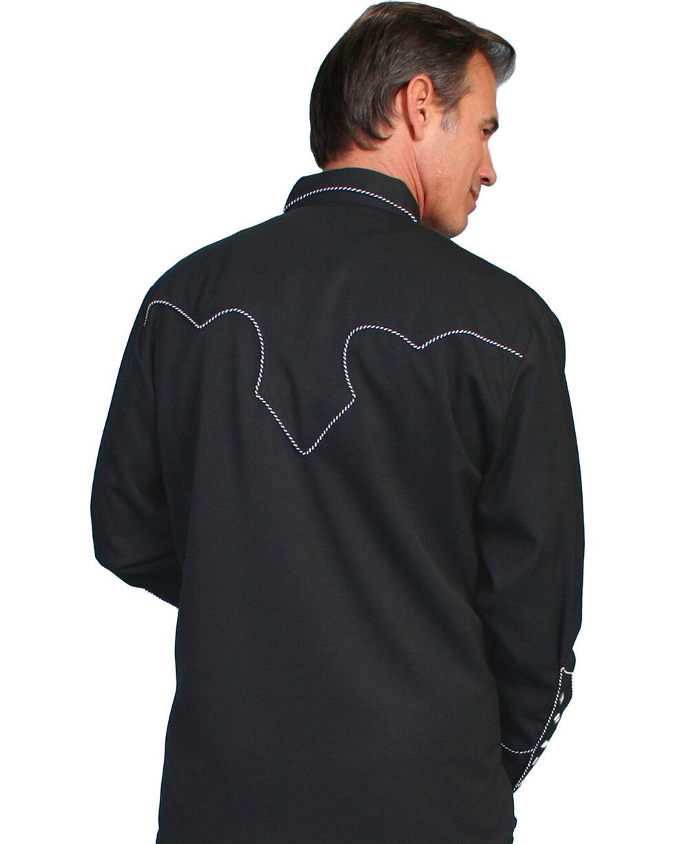 Scully White Retro Western Shirt - Big, Black, hi-res
