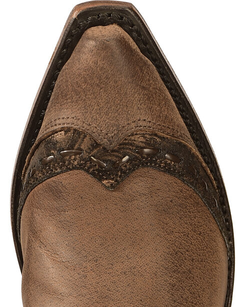 Boulet Fancy Hand Tooled Inlay Cowgirl Boots - Snip Toe, , hi-res