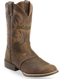 """Justin Men's 11"""" Stampede Cattleman Western Boots, , hi-res"""