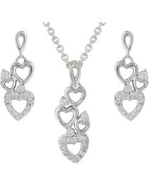 Montana Silversmiths Heart Family Jewelry Set, , hi-res