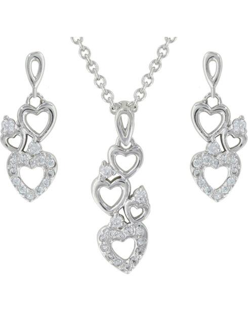 Montana Silversmiths Heart Family Jewelry Set, Silver, hi-res