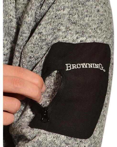 Browning Men's Laredo Grey and Black Sweater Pullover, Black, hi-res