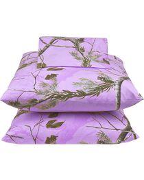 Realtree Lavender Camo X-L Twin Sheet Set, , hi-res