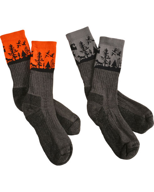 Carhartt Men's Special Edition Deer Season Crew Socks - 2 Pack, , hi-res