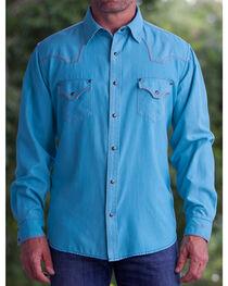 Ryan Michael Men's Medium Blue Pool Western Shirt, , hi-res