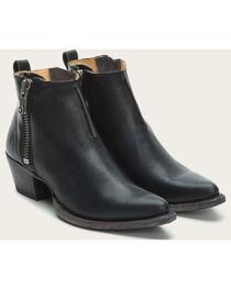 Frye Women's Black Sacha Moto Shortie Boots - Pointed Toe , , hi-res