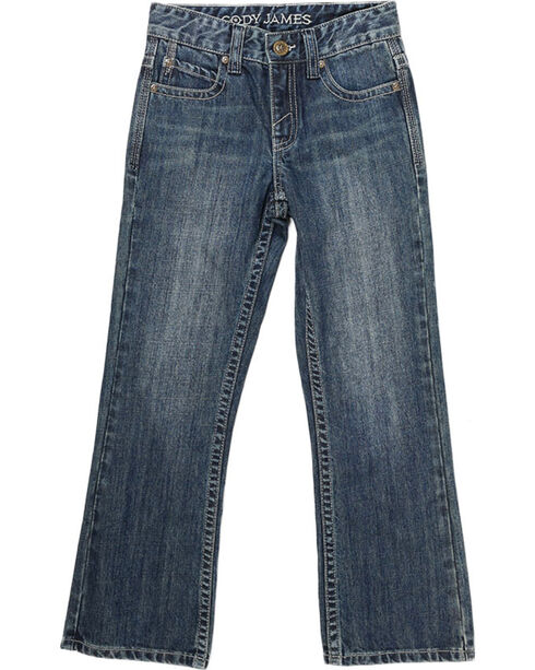 Cody James® Big Boys' Dusty Trail Boot Cut Jeans, Blue, hi-res