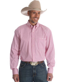 Wrangler Men's Tough Enough To Wear Pink Western Shirt , , hi-res