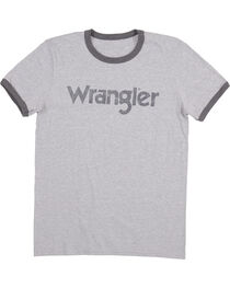 Wrangler Men's Grey Ringer Tee, , hi-res