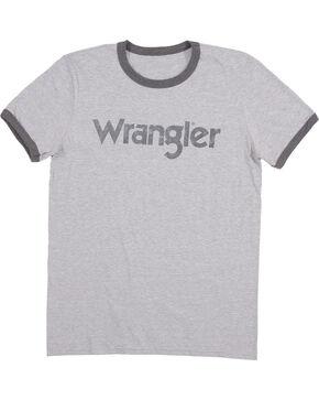 Wrangler Men's Grey Ringer Tee, Grey, hi-res
