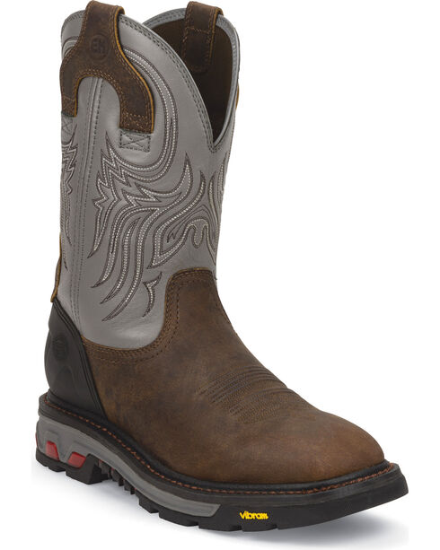 Justin Men's Commander X5 Pull-On Work Boots, Timber, hi-res