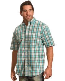Panhandle Men's Evanston Ombre Plaid Short Sleeve Shirt, , hi-res