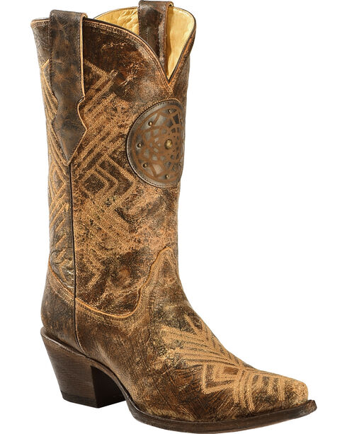 Corral Women's Dreamcatcher Fringe Western Boots, Black, hi-res