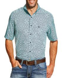 Ariat Men's Irthington Short Sleeve Shirt, Blue, hi-res
