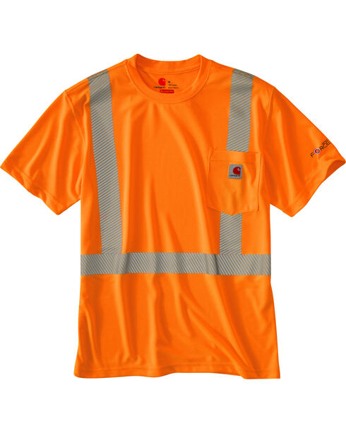 Carhartt Force High-Viz Short Sleeve Class 2 T-Shirt, Orange, hi-res
