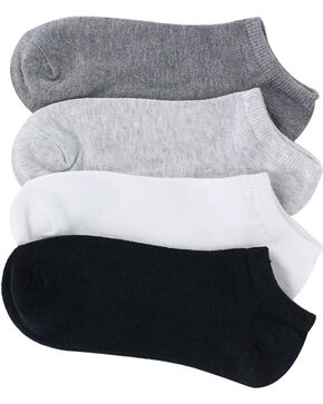 K.Bell Women's 6-Pair Pack No Show Solids Charcoal Ankle Socks, Multi, hi-res