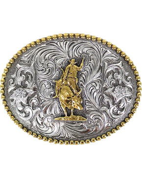 Cody James® Men's Rodeo Filigree Belt Buckle, Silver, hi-res