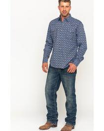 Wrangler Men's Blue Retro Premium Western Shirt , , hi-res