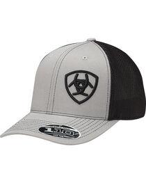 Ariat Men's Grey Contrasting Shield Baseball Cap , , hi-res