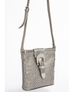 Shyanne Women's Bling Buckle Crossbody Bag, Ash, hi-res
