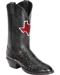Justin Men's Don't Mess With Texas Full Quill Ostrich Western Boots, , hi-res