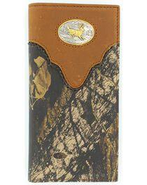 Nocona Belt Co Men's Camo Rodeo Wallet and Checkbook Cover, , hi-res
