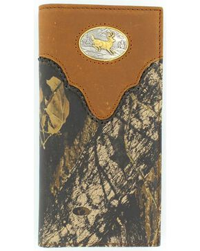Nocona Belt Co Men's Camo Rodeo Wallet and Checkbook Cover, Mossy Oak, hi-res