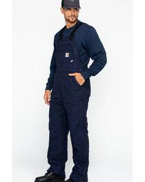 Carhartt Men's Flame-Resistant Duck Quilt-Lined Bib Overalls, , hi-res