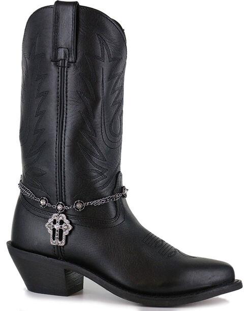 Shyanne® Women's Black Cross Boot Bracelet , Black, hi-res