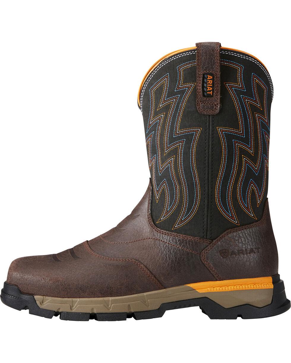 Ariat Men's Rebar Flex Composite Toe Work Boots, Chocolate, hi-res