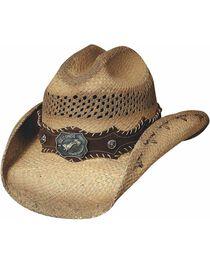 Bullhide Women's Ride 'Em Straw Hat, , hi-res