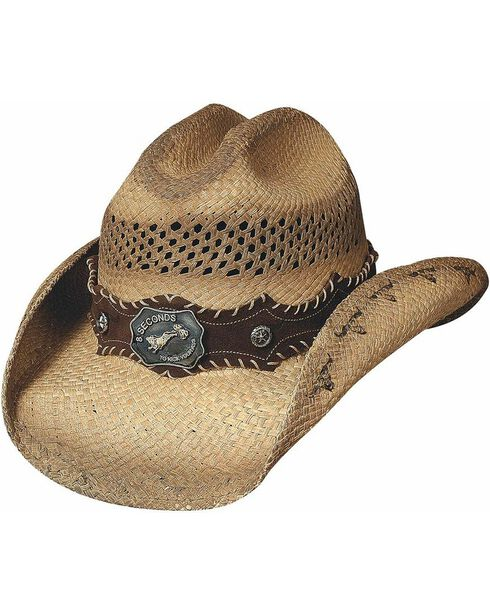 Bullhide Women's Ride 'Em Straw Hat, Natural, hi-res