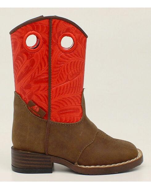 Double Barrel Toddler Boys' Sam Cowboy Boots - Square Toe, Brown, hi-res