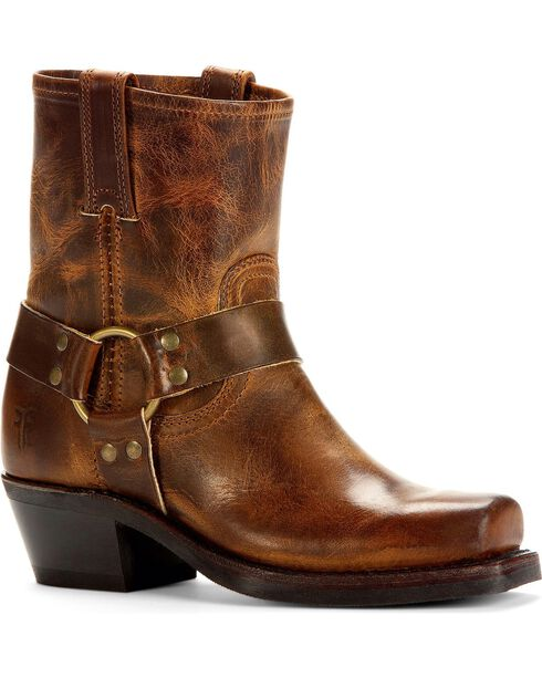 Frye Women's Harness Motorcycle Boots, Dark Brown, hi-res
