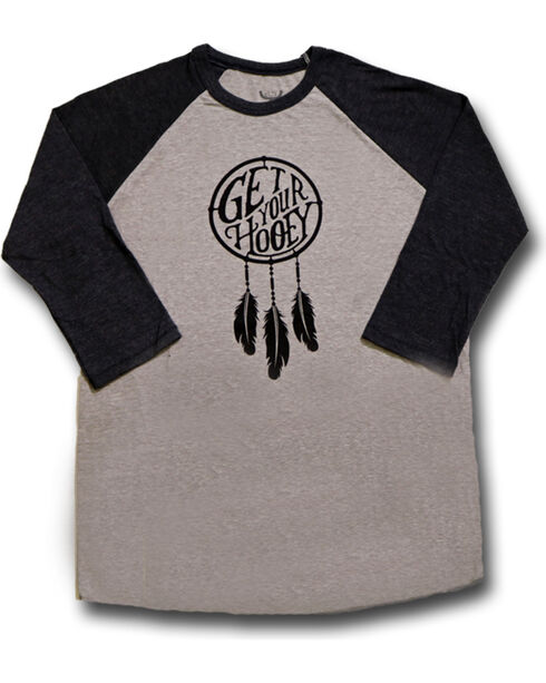 Hooey Women's Dreamer Baseball Tee, Grey, hi-res