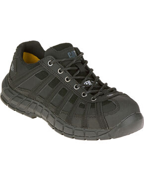 CAT Footwear Women's Switch Steel Toe Work Shoes, Black, hi-res