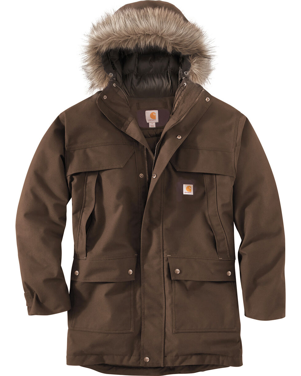Carhartt Men's Quick Duck Sawtooth Parka - Tall, Dark Brown, hi-res