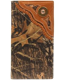 Nocona Men's 12 Gauge Camo Checkbook Wallet, , hi-res