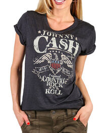 Zion Rootswear Women's Johnny Cash Graphic Tee, , hi-res