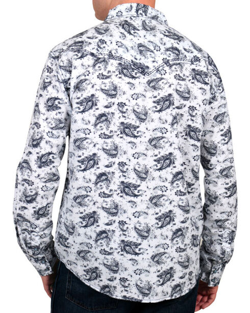Moonshine Spirit Men's Paisley Print Western Shirt, White, hi-res