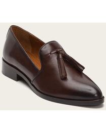 Frye Women's Erica Venetian Dark Brown Shoes - Pointed Toe , , hi-res