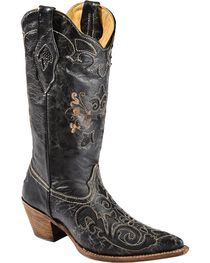 Corral Women's Vintage Lizard Overlay Western Boots, , hi-res