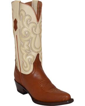 Ferrini Women's Square Toe Western Boots, Cognac, hi-res