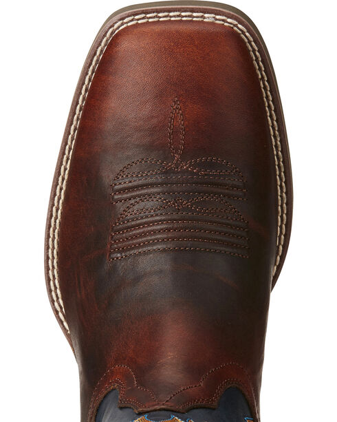 Ariat Men's Heritage High Plains Cowboy Boots - Square Toe, Chocolate, hi-res