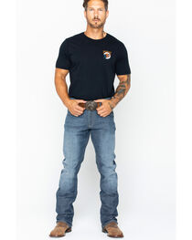 Wrangler Men's Retro Slim Fit Straight Leg Jeans, , hi-res